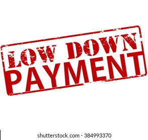 Rubber stamp with text low down payment inside, vector illustration