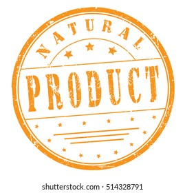 "rubber stamp with text ""natural product"" on white, vector illustration"