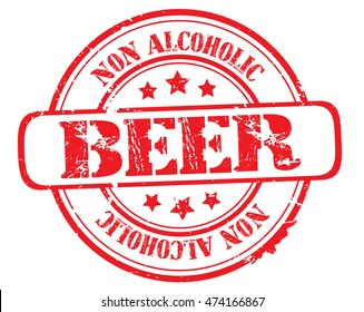 "rubber stamp with text ""non alcoholic beer"" on white, vector illustration"