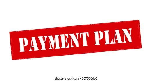 Rubber stamp with text payment plan inside, vector illustration