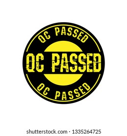 rubber stamp with the text QC passed . QC passed  rubber stamp.QC passed  label, badge,sticker,logo,seal. Designed for your web site design, logo, app, UI
