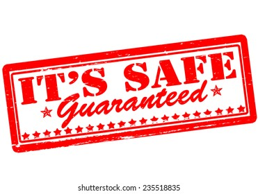Rubber stamp with text it s safe inside, vector illustration