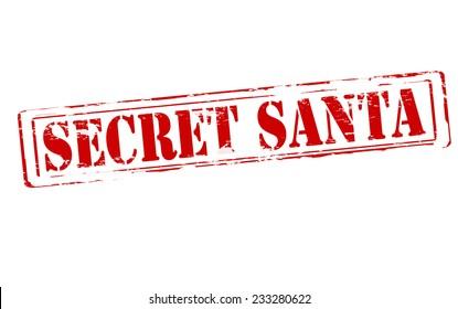 Rubber stamp with text secret Santa inside, vector illustration