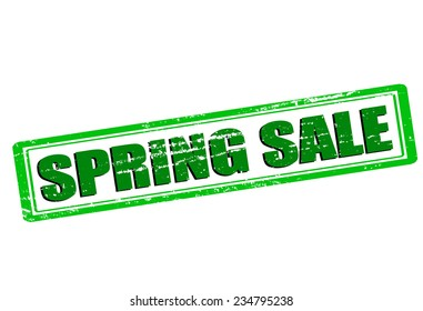Rubber stamp with text spring sale inside, vector illustration