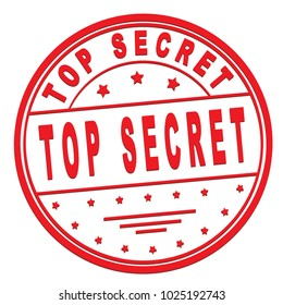 """rubber stamp with text """"Top secret"""" on white, vector illustration"""