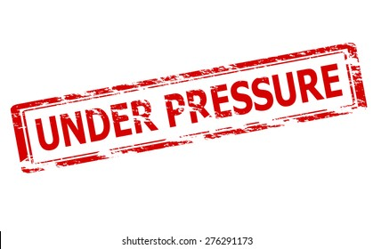 Rubber stamp with text under pressure inside, vector illustration