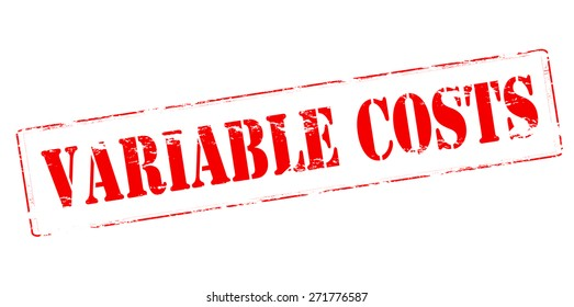 Rubber stamp with text variable costs inside, vector illustration