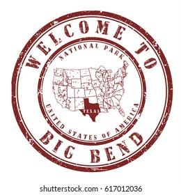 "rubber stamp ""welcome to Big Bend, Utah"", vector illustration"