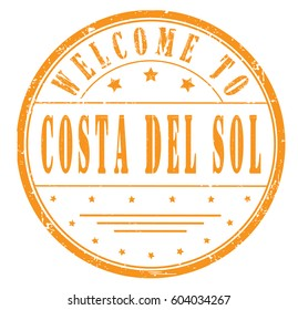 "rubber stamp ""welcome to Costa Del Sol"", vector illustration"