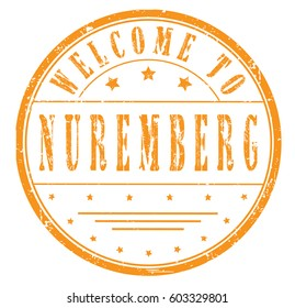 "rubber stamp ""welcome to Nuremberg"", vector illustration"
