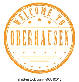 "rubber stamp ""welcome to Oberhausen"", vector illustration"