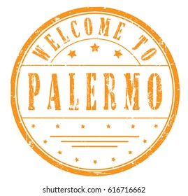 "rubber stamp ""welcome to Palermo"", vector illustration"