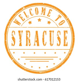 "rubber stamp ""welcome to Syracuse"", vector illustration"
