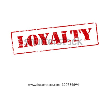 Rubber Stamp With Word Loyalty Inside Vector Illustration