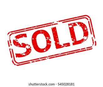 Sold Stamp Images, Stock Photos & Vectors | Shutterstock