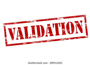 Rubber Stamp With Word Validation Inside Vector Illustration