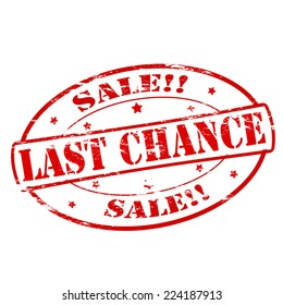 Rubber stamps with text last chance sale inside, vector illustration