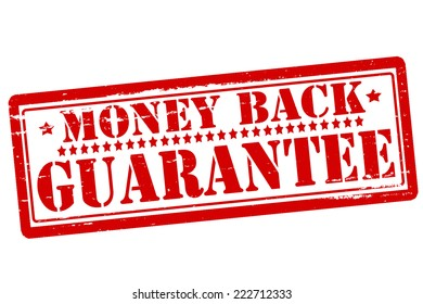 Rubber stamps with text money back inside, vector illustration