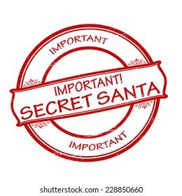 Rubber stamps with text secret Santa inside, vector illustration