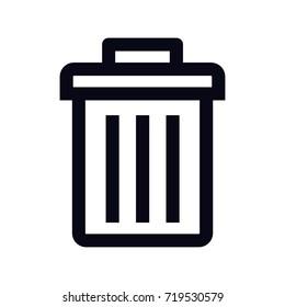 rubbish bin icon