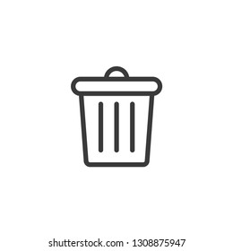 Rubbish outline icon