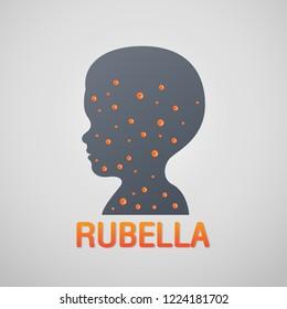Rubella German Measles logo icon design, vector illustration