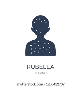 Rubella icon. Trendy flat vector Rubella icon on white background from Diseases collection, vector illustration can be use for web and mobile, eps10