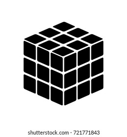Rubic's cube game shape icon .