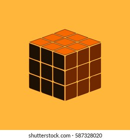 rubik cube Vector illustration in paper sticker style cube. rubik cube toy