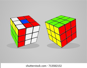 Rubik's Cube vector illustration