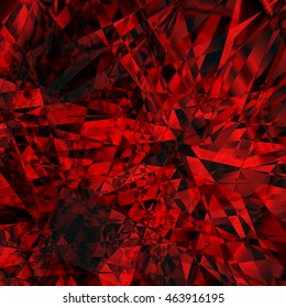 Rubin background. Abstract  red vector background. Triangle design.