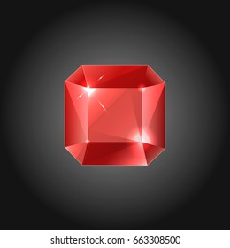 Rubin gem - vector illustration