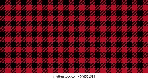 Ruby Lumberjack Buffalo Plaid Seamless Pattern