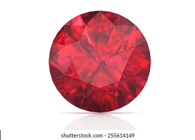 ruby on white background.Vector illustration.