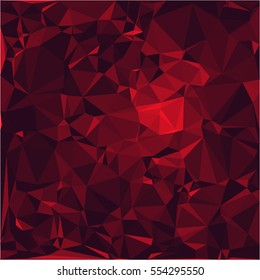 Ruby stone background vector illustration, abstract beautiful gemstone texture in deep and sparkling shades of red.