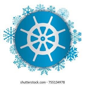 rudder christmas icon