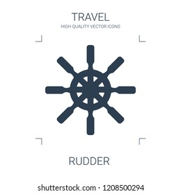 rudder icon. high quality filled rudder icon on white background. from travel collection flat trendy vector rudder symbol. use for web and mobile