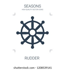 rudder icon. high quality filled rudder icon on white background. from seasons collection flat trendy vector rudder symbol. use for web and mobile