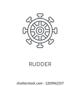 Rudder linear icon. Rudder concept stroke symbol design. Thin graphic elements vector illustration, outline pattern on a white background, eps 10.