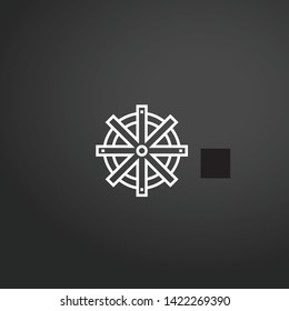Rudder vector icon. Rudder concept stroke symbol design. Thin graphic elements vector illustration, outline pattern for your web site design, logo, UI. EPS 10.