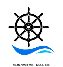 Rudder vector icon on white background