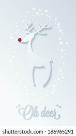 rudolph red nose reindeer, christmas illustration