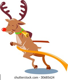 Rudolph red nosed reindeer running race