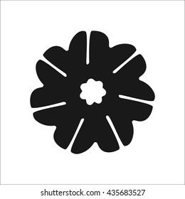 Rudraksha seeds symbol sign simple icon on background