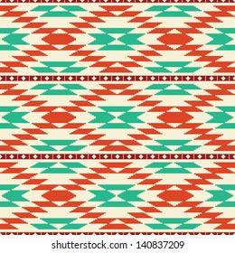 Rug geometric tribal seamless pattern