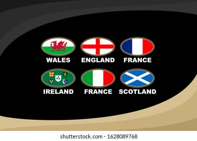 Rugby 2020 - 6 national teams