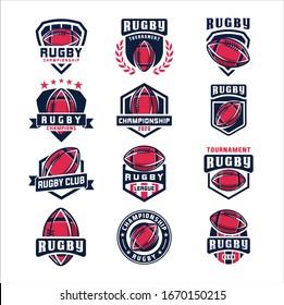 Rugby american badge logo sport