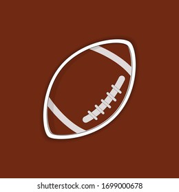rugby or american football ball vector for graphic design, icon, sticker, logo, website, social media, mobile app, vector illustration.