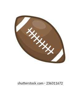 rugby ball or American football isolated illustration on white background