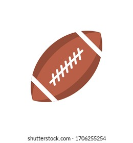 Rugby ball icon design isolated on white background